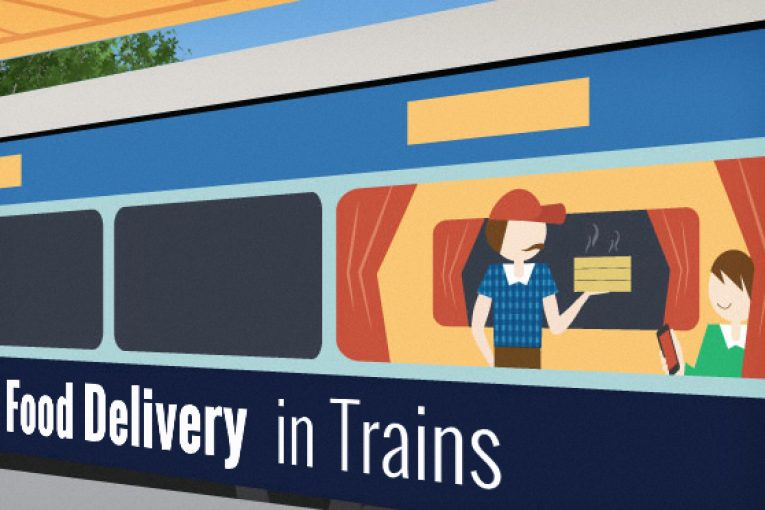 delivery of food in trains
